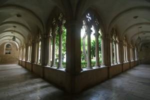 Dominican Monastery Courtyard Passage. Dubrovnik, Croatia