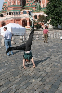 Moscow, Red Square near St. Basil's Cathedral 2009